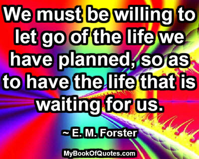 We must be willing to let go
