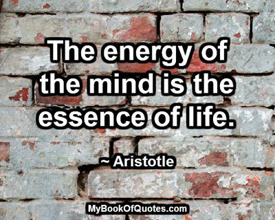 The energy of the mind