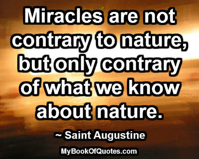 Miracles are not contrary