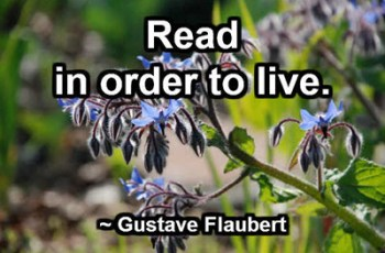 Read in order to live