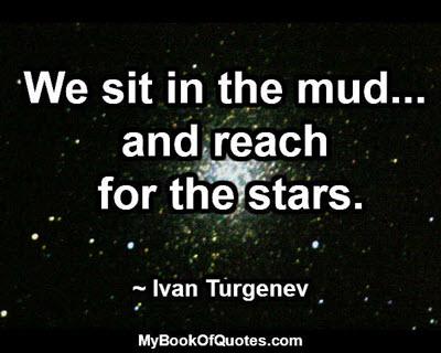 We sit in the mud