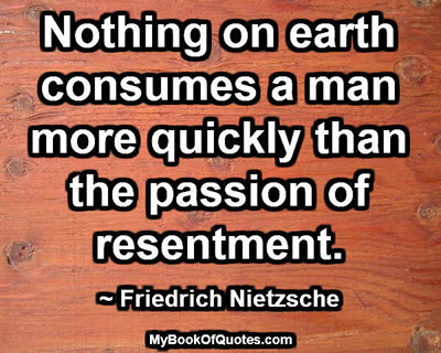 Passion of resentment