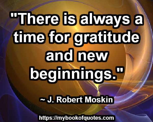 gratitude and new beginnings