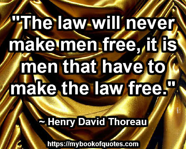 the law will never make men free