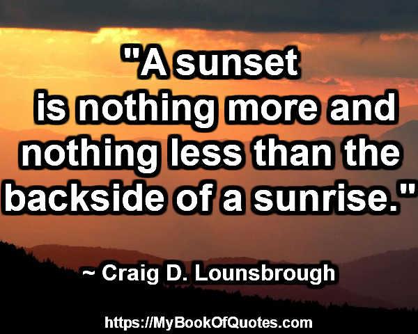 the backside of a sunrise