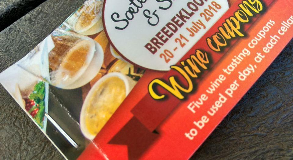 Wine coupons for Soetes en Sop