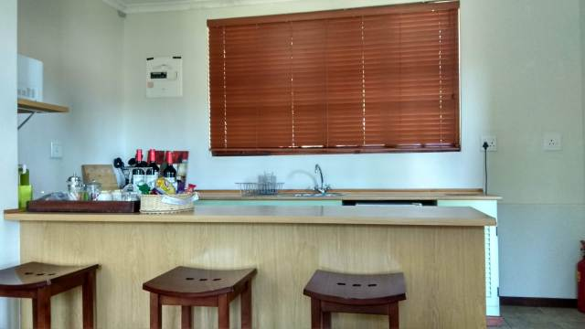 kitchen area at the guest house