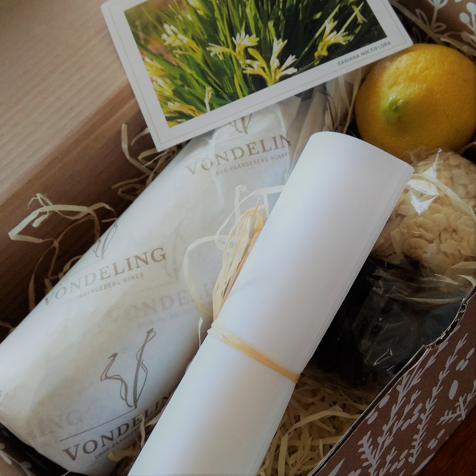 Vondeling Media Kit with the containing ingredients for a chicken tagine.