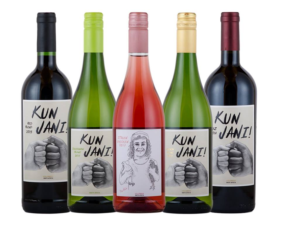 Kunjani bottles of wine