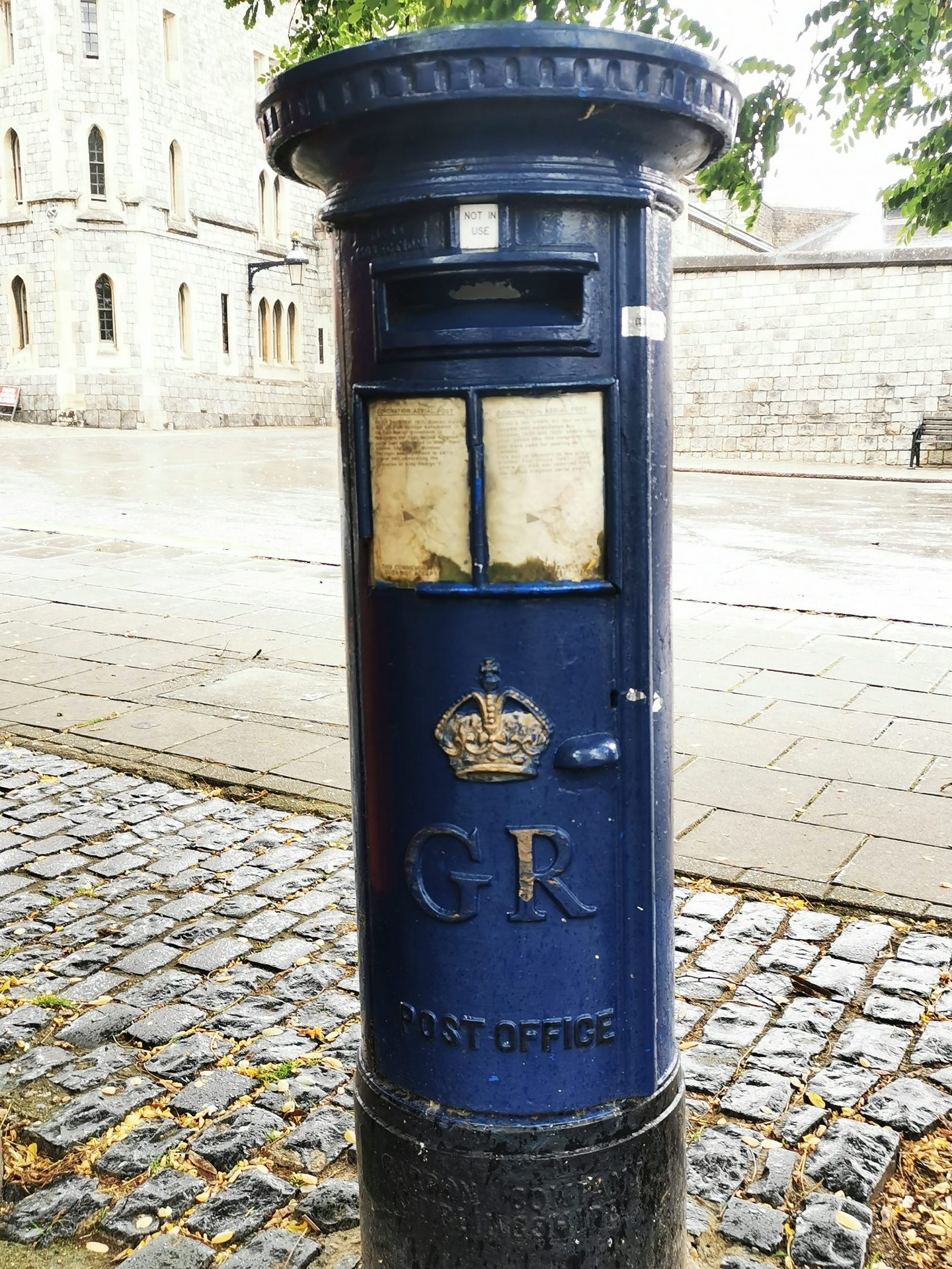 the only blue post box in england