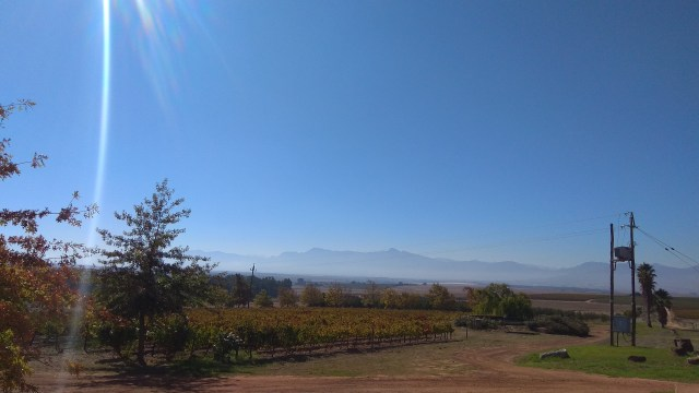 Vondeling completely surrounded by mountains and vineyards