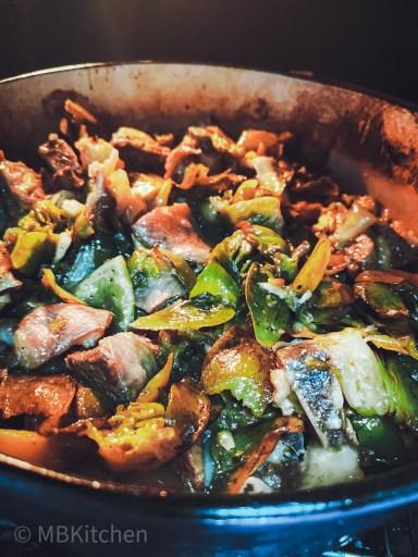 waterblommetjie breedie cooked