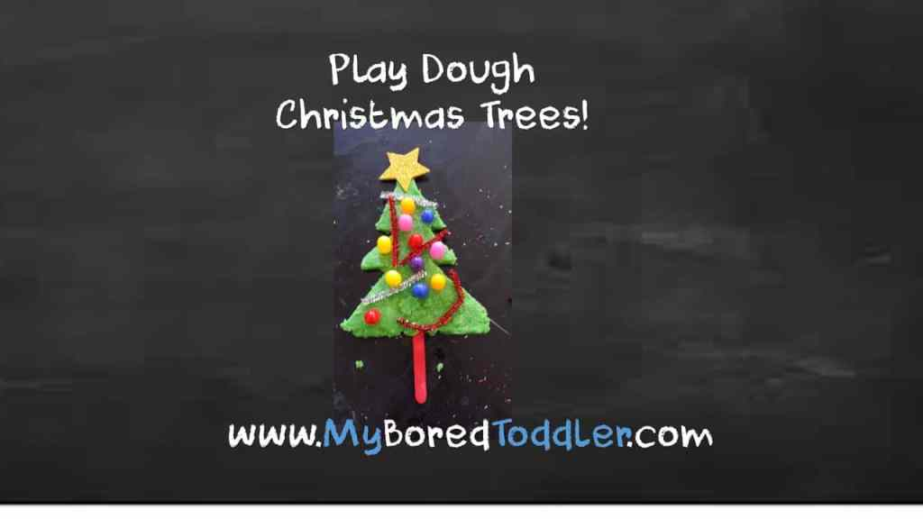 Play Dough Christmas Trees and Candy Canes