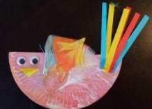 paper plate craft toddler bird