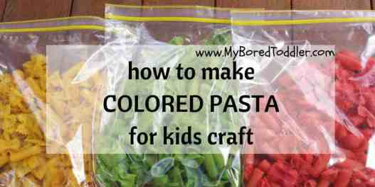 how to make colored pasta for kids craft
