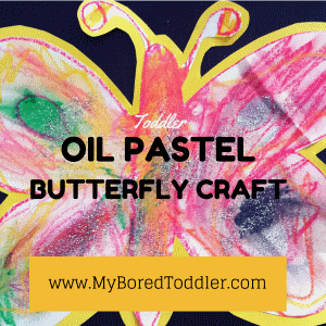 toddler spring craft butterfly oil pastel