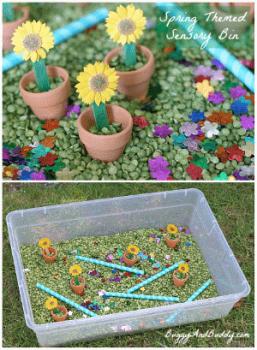 toddler spring activities sensory box