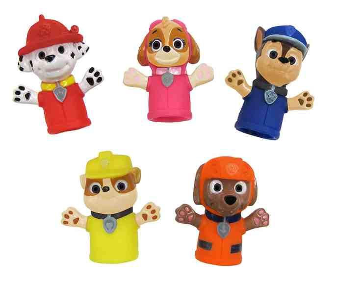 paw patrol bath finger puppets
