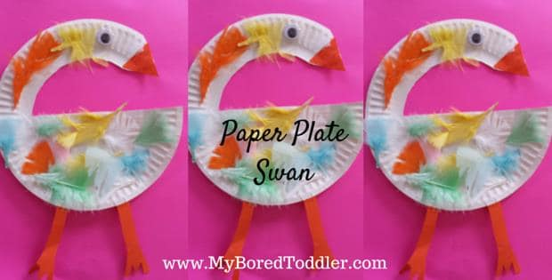 Paper Plate Crafts for Toddlers – Swan