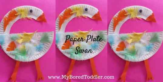 paper plate crafts for toddlers swan