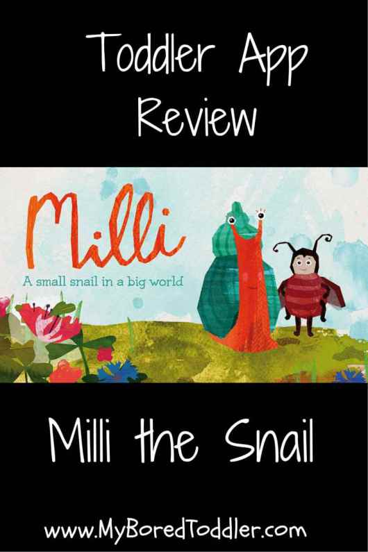toddler app review milli the snail