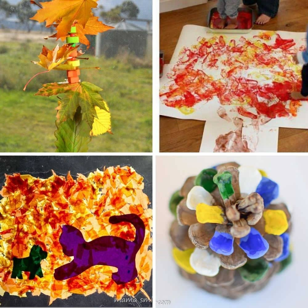 easy fall toddler craft ideas for autumn and fall for 2 year olds, 3 year olds