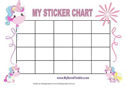 photograph regarding Toddler Reward Chart Printable titled Printable Benefit Charts - My Bored Baby
