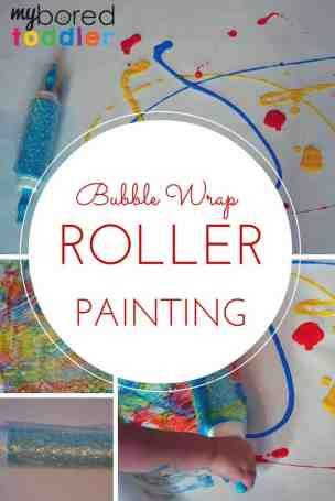Bubble wrap roller painting pinterest