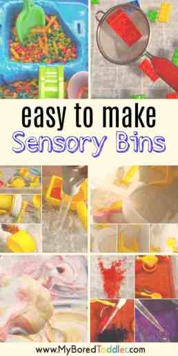 simple sensory bins for toddlers easy