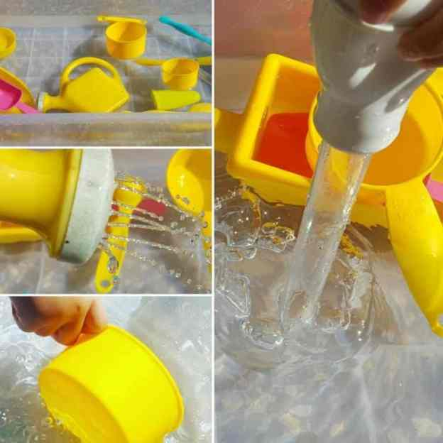 easy water sensory bin ideas for toddlers