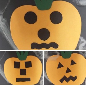 felt pumpkin collage