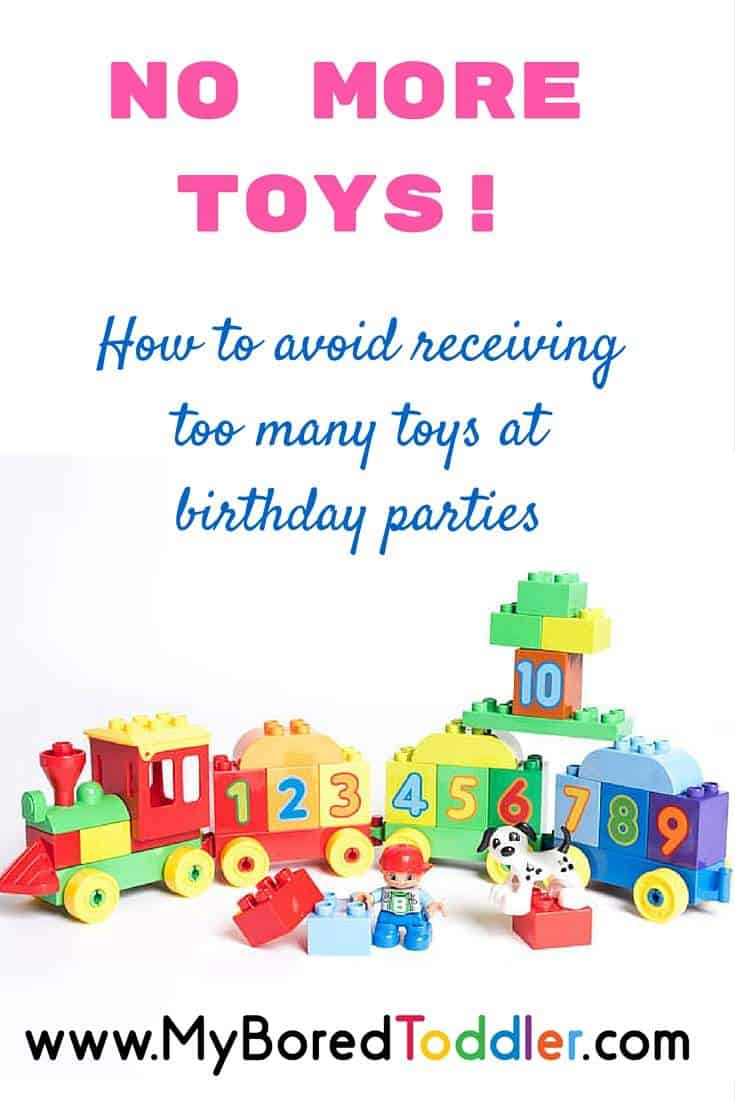 No More Toys How To Avoid Too Many Toys As Birthday Gifts