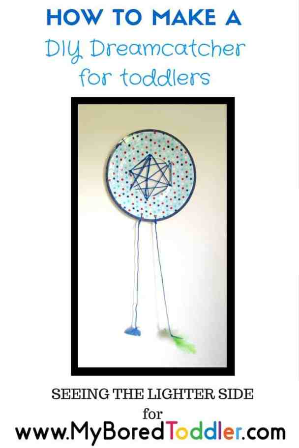how to make a DIY dreamcatcher for toddlers