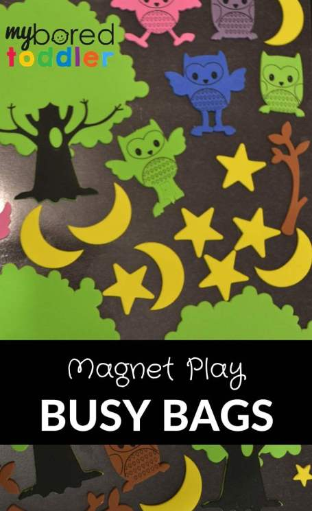 toddler busy bags magnet play