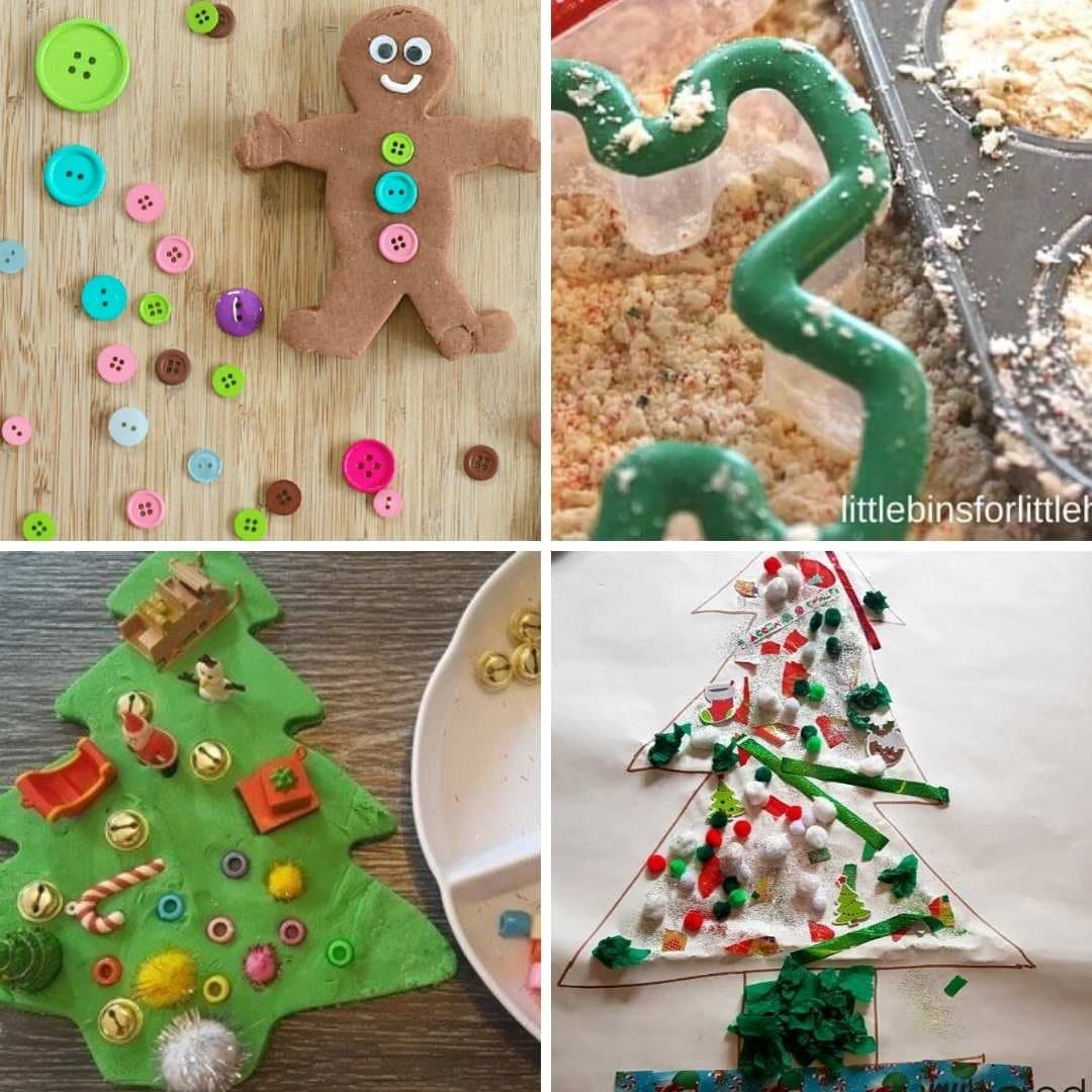christmas sensory play ideas for toddlers babies preschoolers