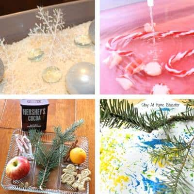 Christmas sensory play for toddlers