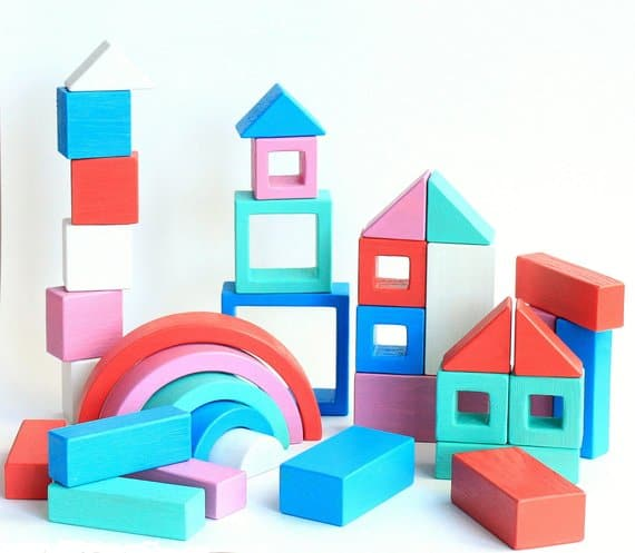 hand painted wooden blocks for toddlers