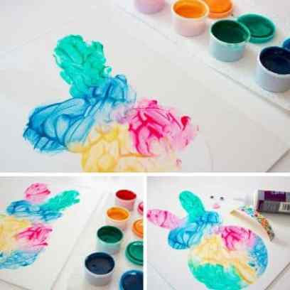 easy easter bunny painting in process pics 5