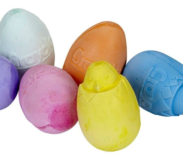 crayola egg shaped chalk non chocolate Easter gifts toddlers