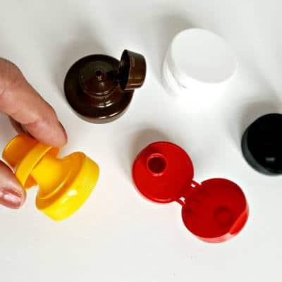 flip-top lids square