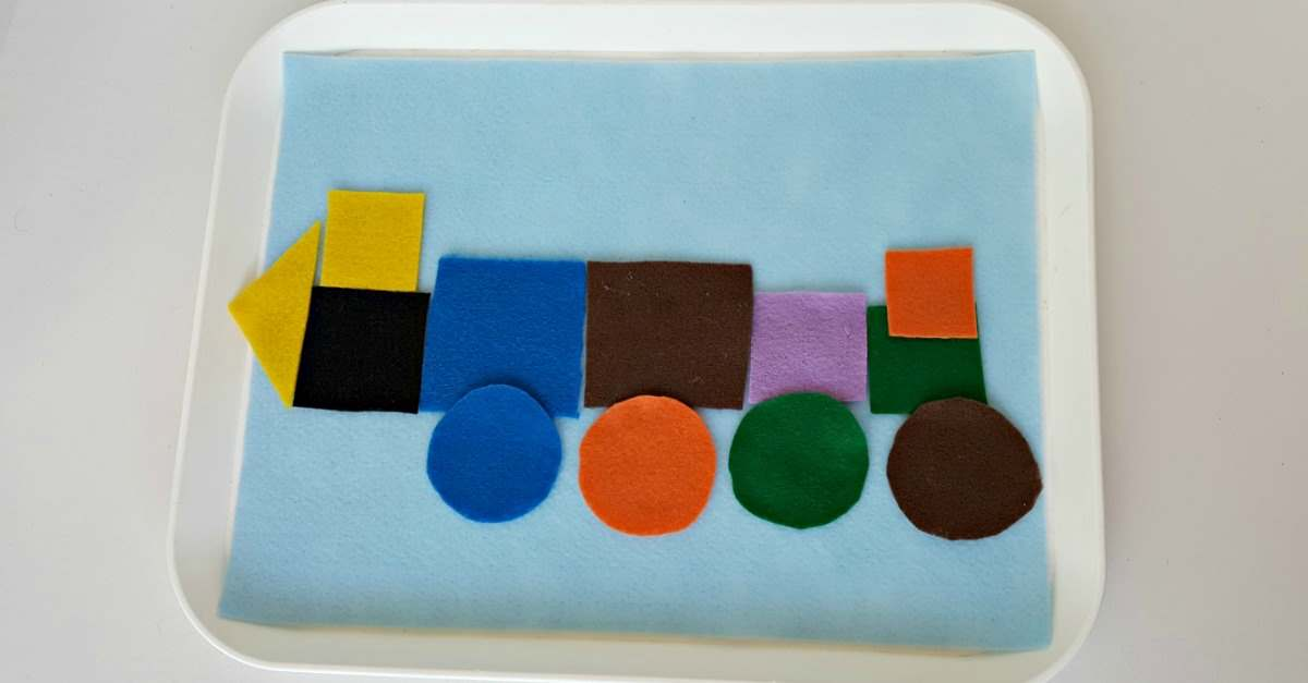 sorting and creating with felt shapes 2