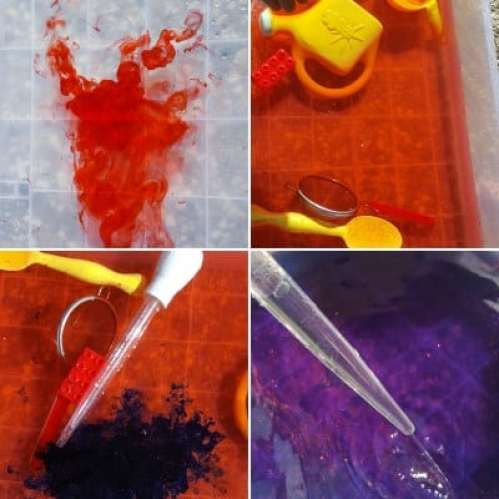 color mixing water table feature
