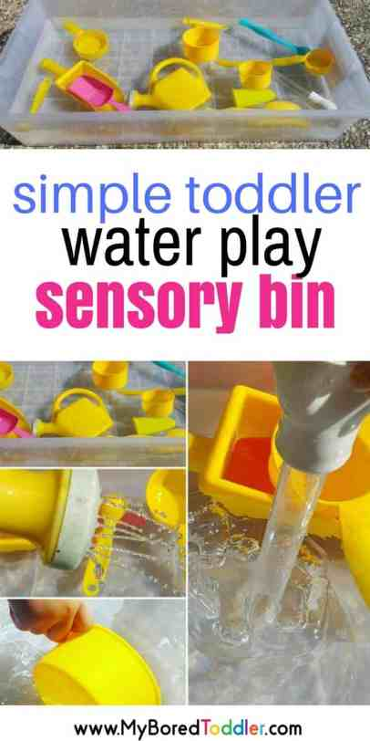 simple toddler sensory bin water play for toddlers #waterplay #sensorybin