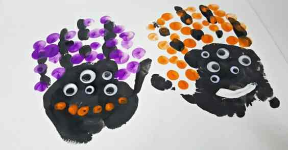 Halloween handprint painting craft