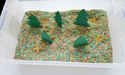 Christmas tree forest in rice tub 2