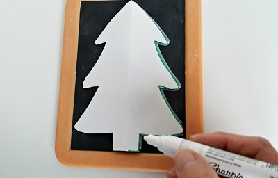 chalkboard Christmas tree craft template