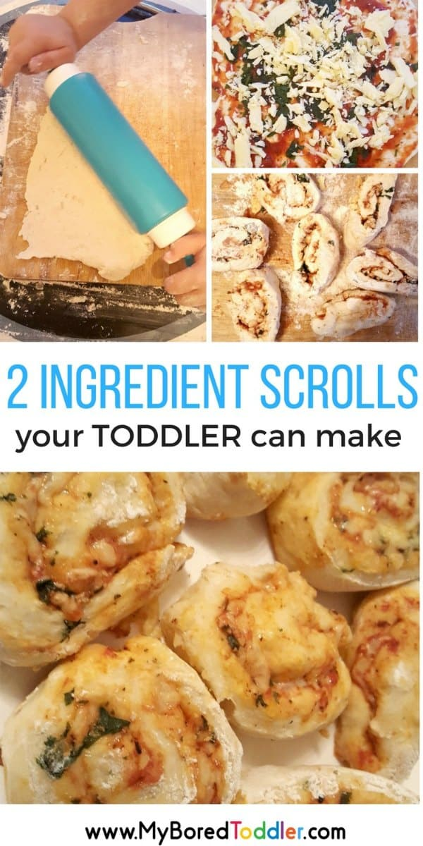 2 ingredients scrolls your toddler can make pinterest