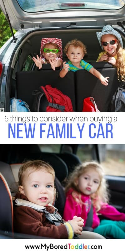 5 things to consider when buying a new family car pinterest