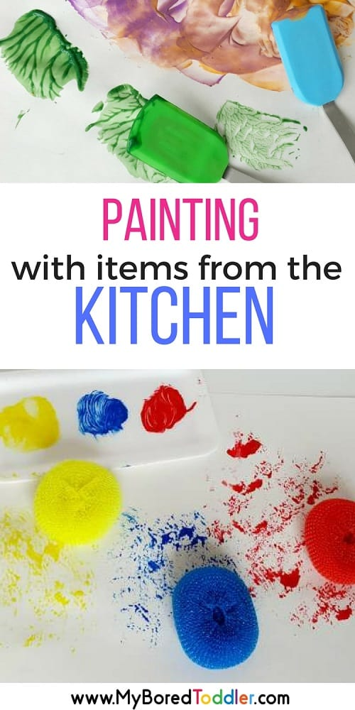 Painting with kitchen items pinterest
