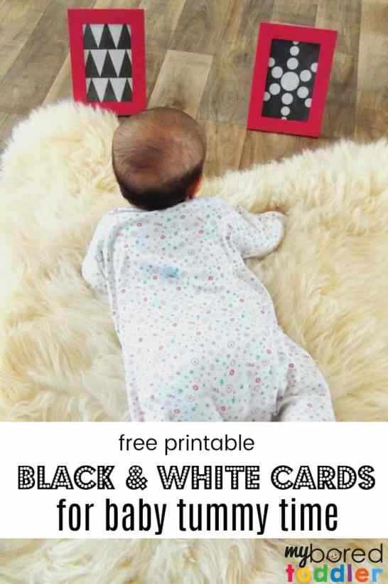free printable black and white cards for baby tummy time